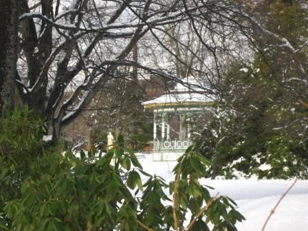 Looking toward the bandstand and the statue of Diana from Spring Garden Rd.