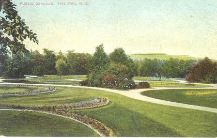 Serpentine Bed looking toward Citadel Hill in a shot taken in 1907.