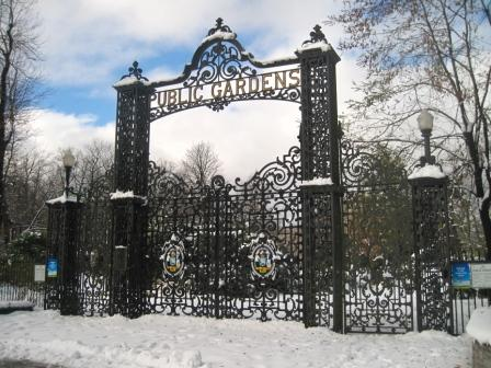 Main gates at the Halifax Public Gardens.