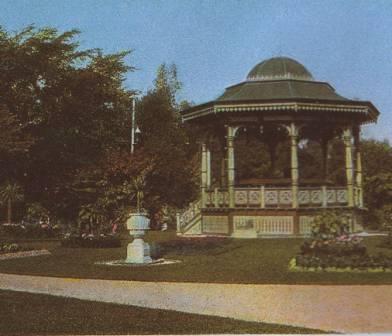 Halifax Public Gardens Bandstand Postcard -1910.