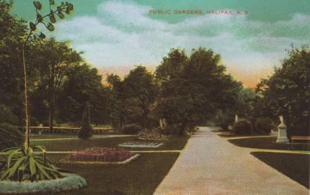 Public Gardens Postcard Petit Allée 1907.