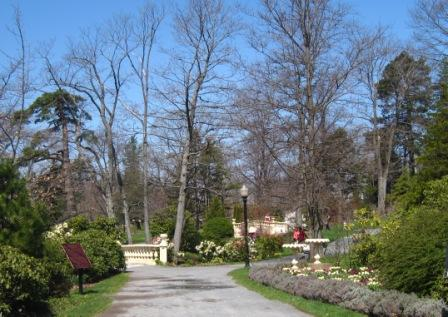 View from the main gates at the Halifax Public Gardens
