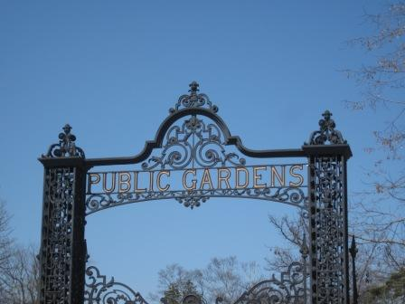 The main gates at the Halifax Public Gardens