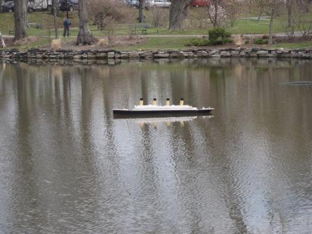 Titanic Model at the Public Gardens.
