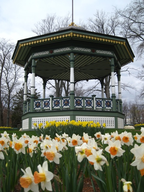 Bandstand in spring at the Halifax Public Gardens