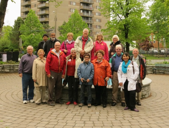 Rotary Club members from Australia and the UK join their Nova Scotian hosts at the Halifax Public Gardens