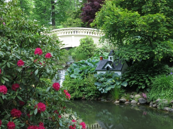 Miniature house by the upper bridge at the Halifax Public Gardens