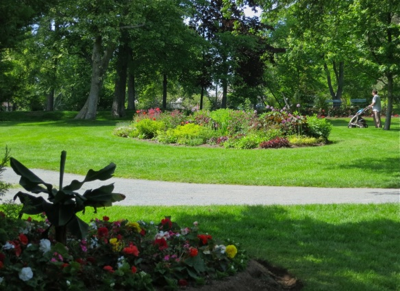 Perennial and annual beds at the Halifax Public Gardens