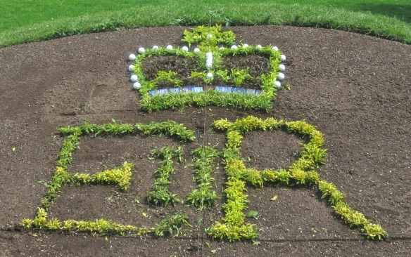 QEII Jubilee Carpet bed at the Halifax Public Gardens