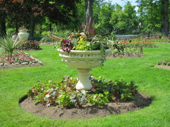 Urns at the Halifax Public Gardens