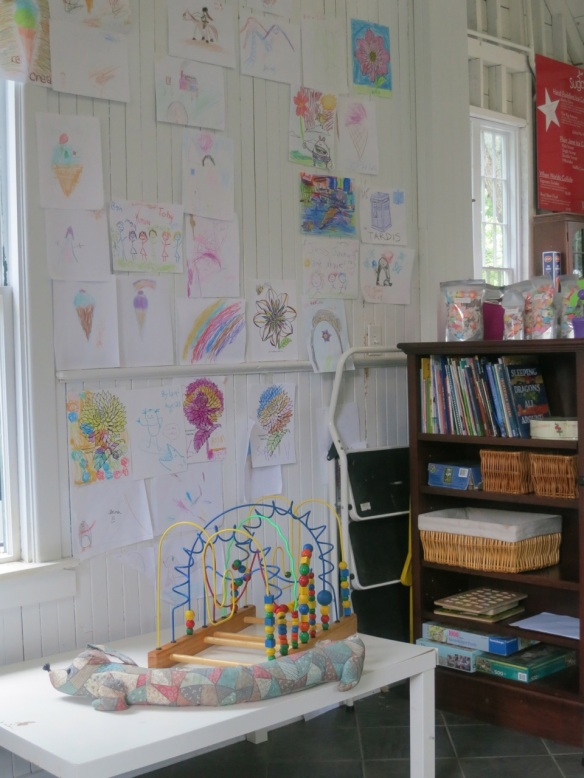 Kids corner at the Uncommon Grounds Cafe