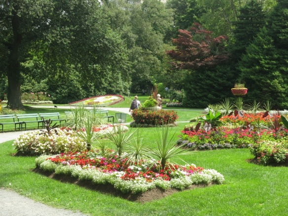 Display beds at the Halifax Public Gardens