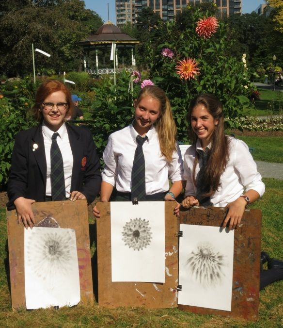 Art in the Gardens as created by Sacred Heart School of Halifax Students