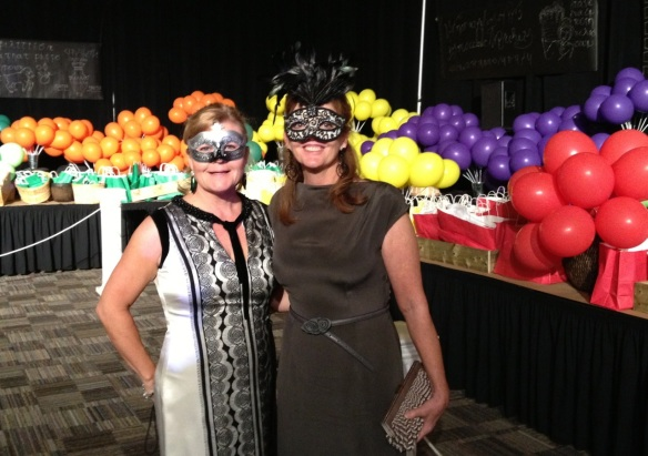 Co-chairs of the Balloon Pop Committee for the Laing House Ball
