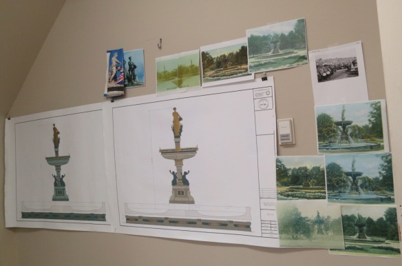 Color renditions of the fountain