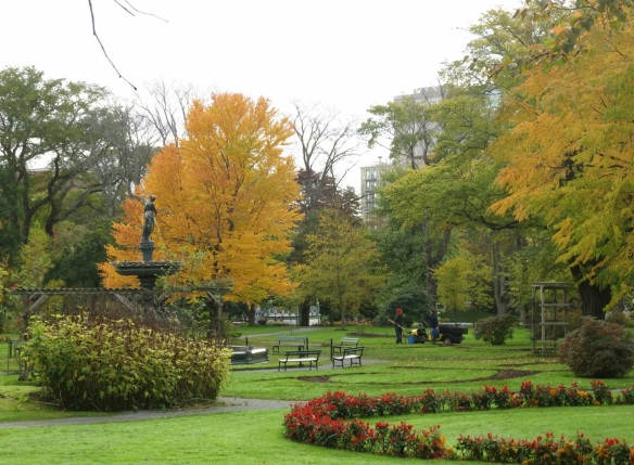 Fall by the Victoria Jubilee Fountain at the Halifax Public Gardens