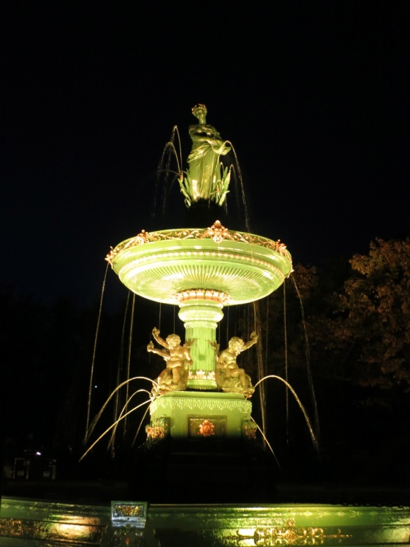 Victoria Jubilee Fountain at the Halifax Public Gardens Nocturne 2012