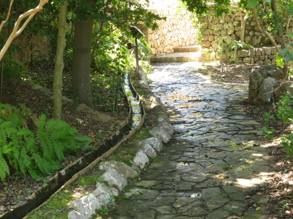 Runnel at the Soller Botanical Garden, Mallorca