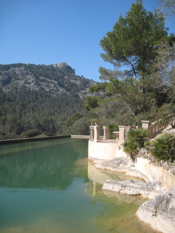 Water reservoir at Raixa, Mallorca