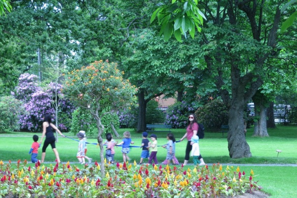 Kids at the Halifax Public Gardens