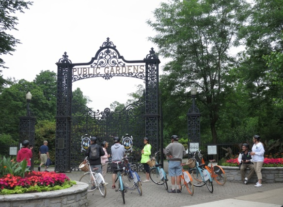 I love to Bike at the Halifax Public Gardens