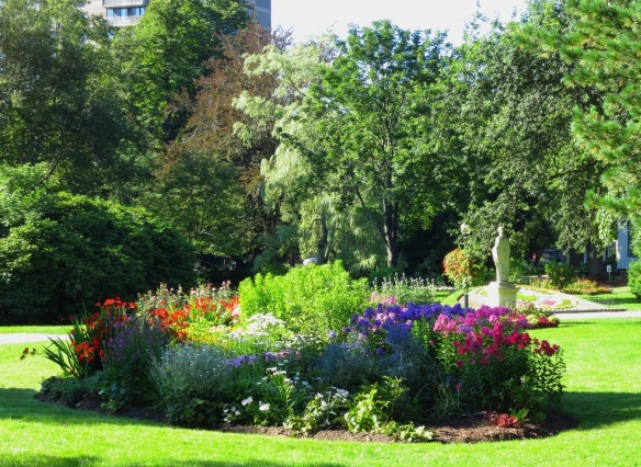 Perennial border at the Halifax Public Gardens