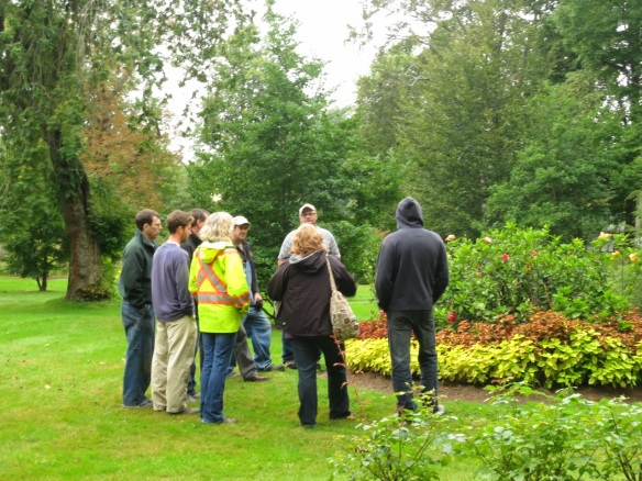 Gardeners perennial walk through at the Halifax Public Gardens