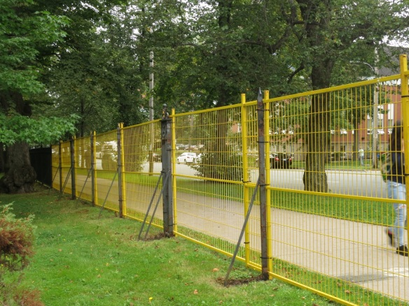 Temporary fence at the Halifax Public Gardens