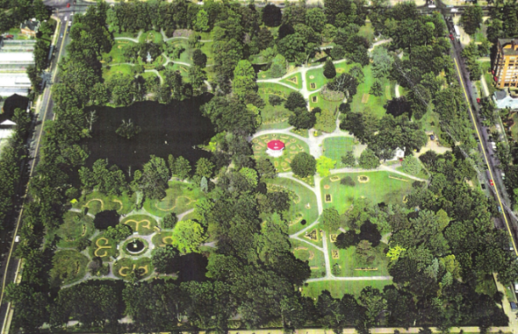 Aerial photo of the Halifax Public Gardens pre Juan