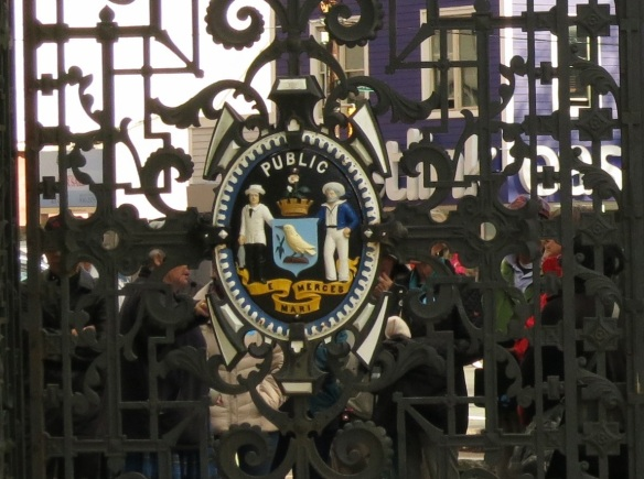 Coat of Arms at the main gates of the Halifax Public Gardens