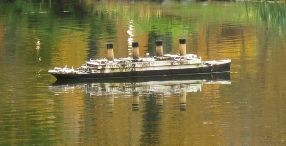 Titanic model at the Halifax Public Gardens