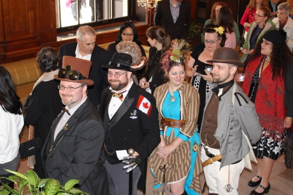Guests at the Victoria Day Tea Party dressed in their finery