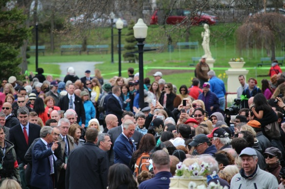 HRH the Prince of Wales at the Halifax Public Gardens