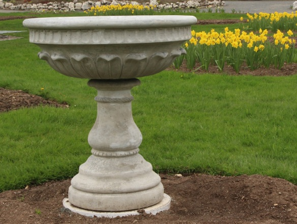 Recast urns at the Halifax Public Gardens