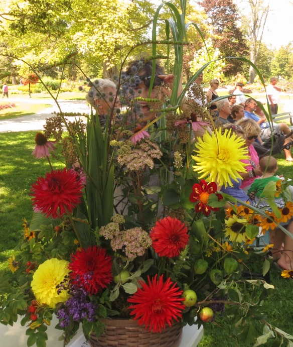 Floral arrangement made by Neville at the Halifax Public Gardens