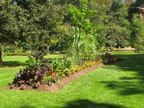 Ornamental Vegetable bed at the Halifax Public Gardens