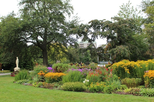 Perennial bed at the Halifax Public Gardens