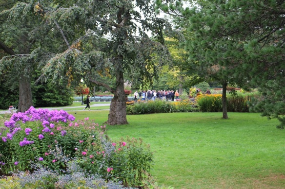 Tour groups at the Halifax Public Gardens