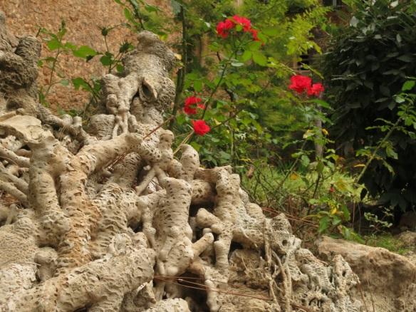 Stalagmite formation in the garden of Alfabia, Mallorca