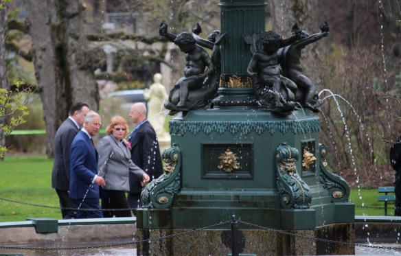 Prince Charles at the Halifax Public Gardens
