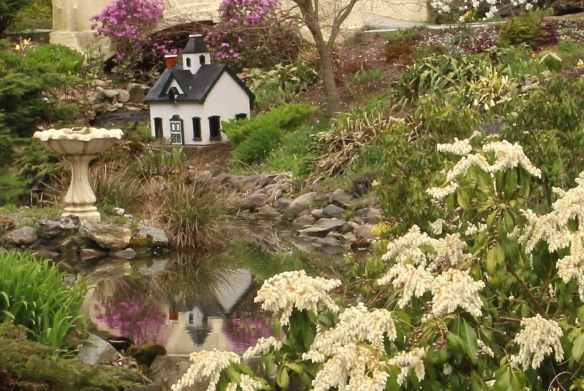 The model house by the stream of the Halifax Public Gardens