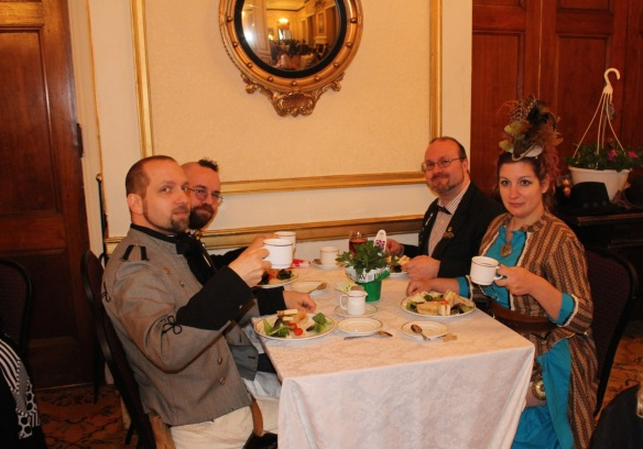 Members of the Jules Verne Society attend TFPG Victoria Day Tea.