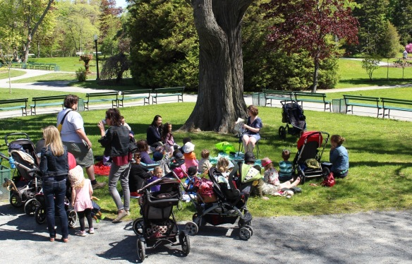 Story time at the Halifax Public Gardens