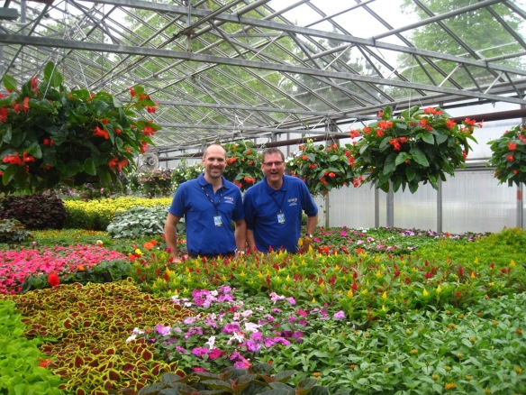 Gardeners at one of the greenhouses at the Halifax Public Gardens