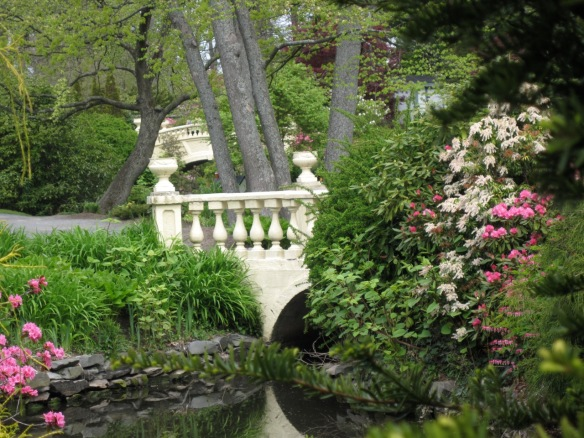 Lower and upper bridges at the Halifax Public Gardens