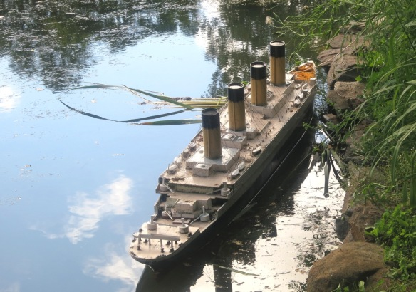 Titanic model at the Halifax Public Gardens in 2012