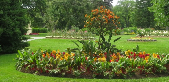 Using vegetables in the flower beds at the Halifax Public Gardens