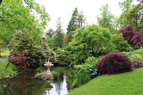 The stream bed between the bridges of the Halifax Public Gardens