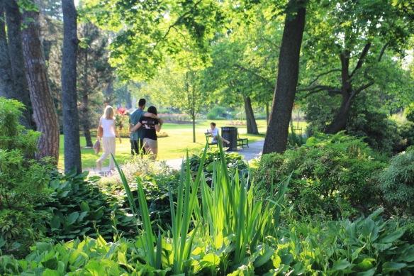 Enjoying the Halifax Public Gardens