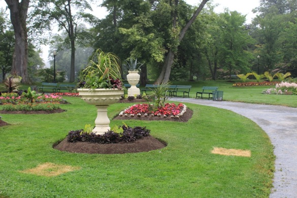Geometric beds at the Halifax Public Gardens